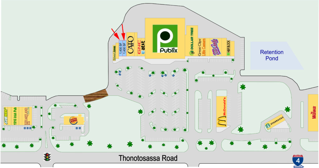 PCX available site plan with arrows